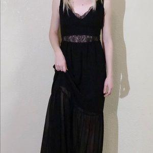 BCB Generation Black Floor Length Dress